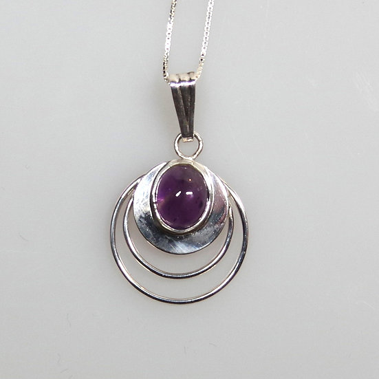 Necklace -Sterling Silver and Amathyst