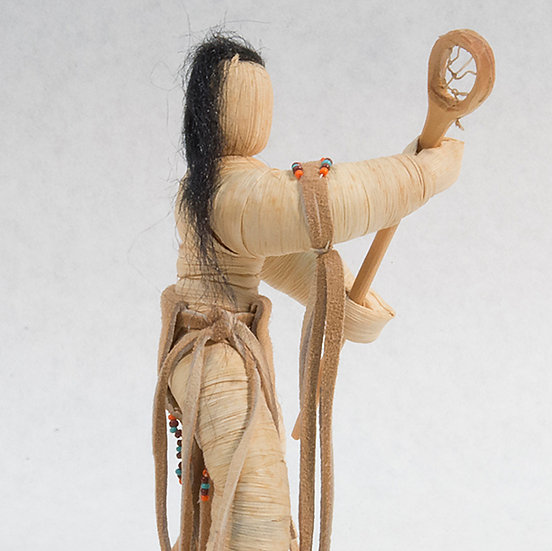 Cornhusk Doll Lacrosse Player
