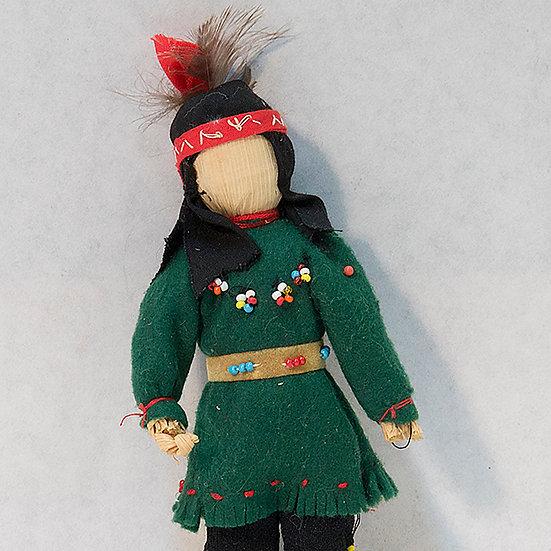 Cornhusk Doll in Green Shirt  (85:136)