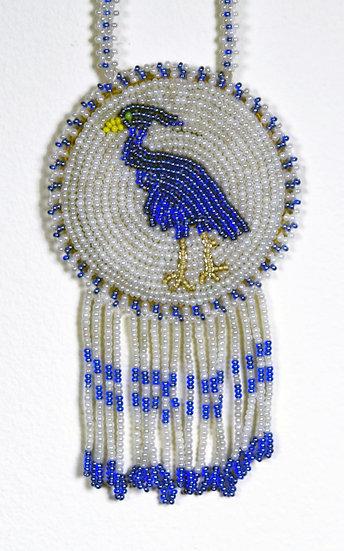 Beaded Blue Heron Medallion (81:08)