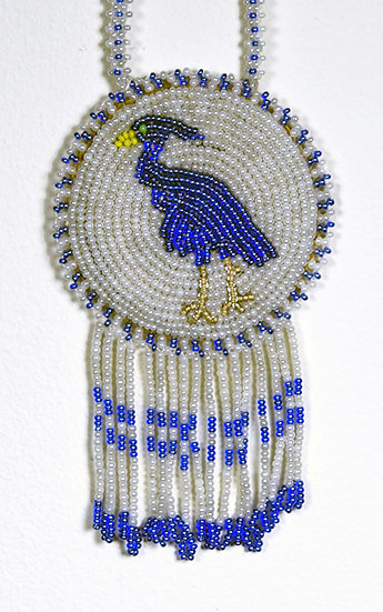 Beaded Blue Heron Medallion (95:53)