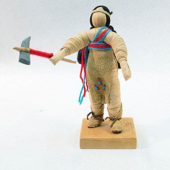 Cornhusk Doll Holding Tomahawk (87:34)