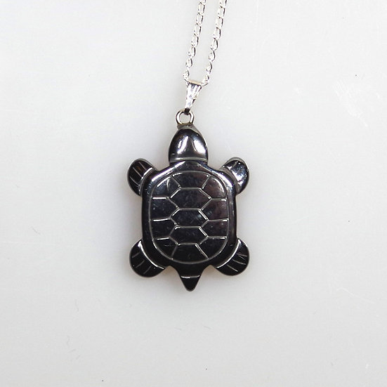 Necklace -Onyx Turtle