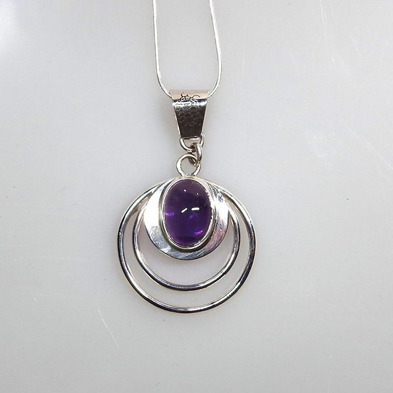 Necklace - Sterling Silver and Amethyst