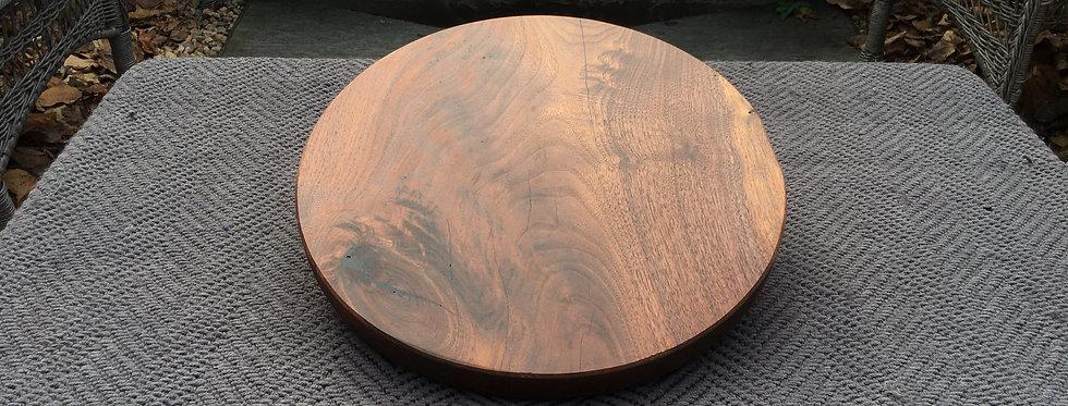 Large Round Walnut Presentation Board