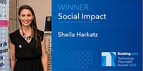 Social Impact Winner Sheila announcement