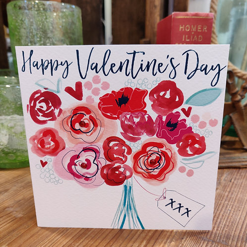 Valentine's Day Greeting Card Katy Phythian Flowers