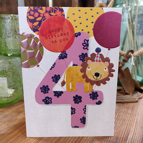 Stop The Clock Greeting Card Age Birthday 4 Boy