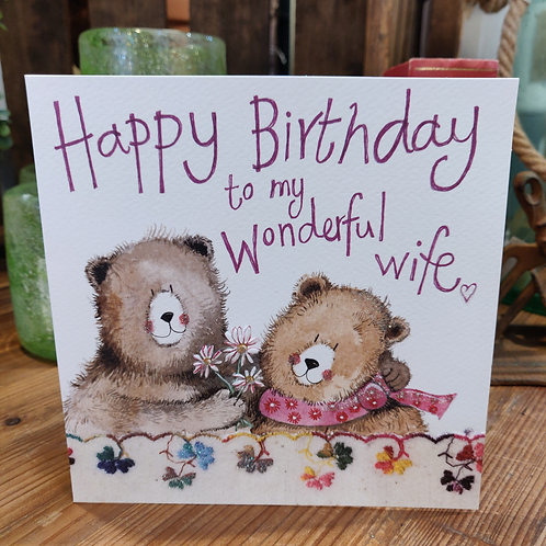 Relations Birthday Greeting Card Alex Clark Wife