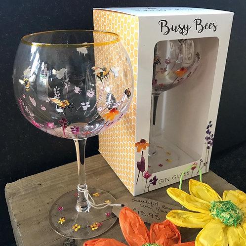 Beautiful bee gin glass