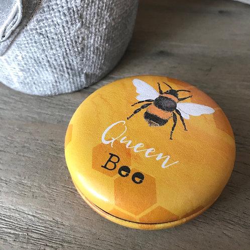 Bee-utiful Queen Bee compact mirror