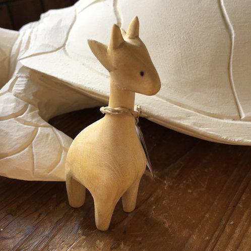 Freya the Hand Carved Satin Wood Giraffe Gift Shop Hinckley Cute