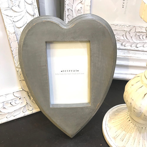 Grey Heart Frame