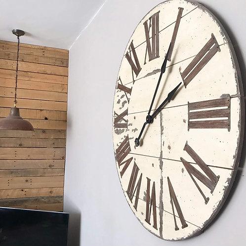Huge Rustic Wood Wall Clock