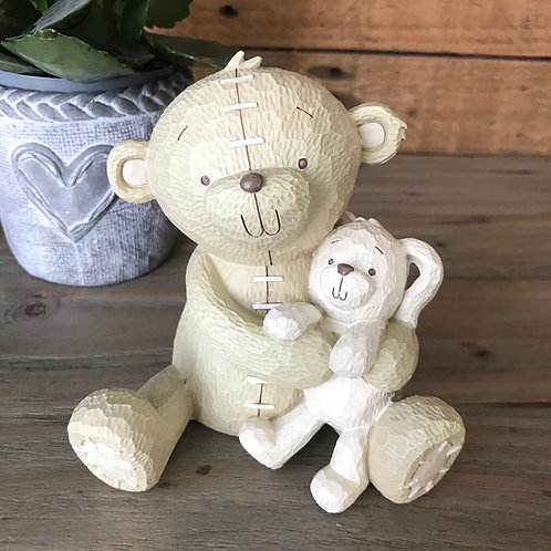 Bear and Bunny Money Bank Front View
