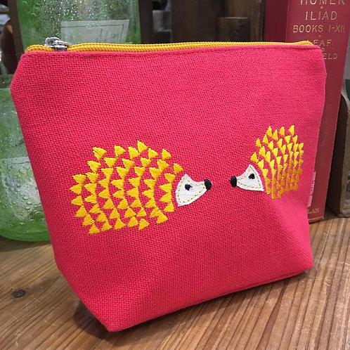 Cerise Hedgehog Cosmetic Bag