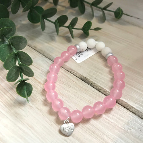 Pale Pink Semi-Precious Stone Bracelet