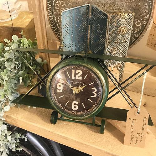 Biplane Clock
