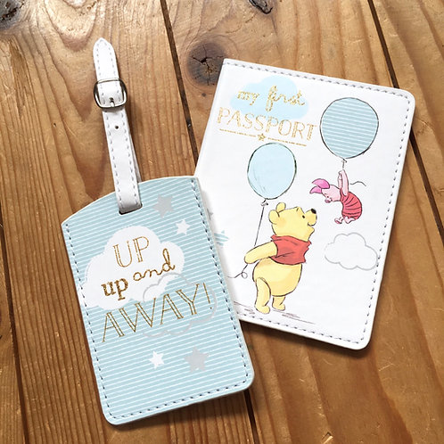 Disney My First Passport and Luggage Tag Boys Pooh and Piglet