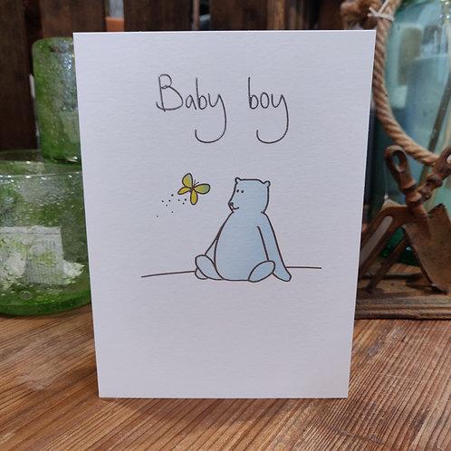 Lucilla Lavender Greeting Card Baby Boy