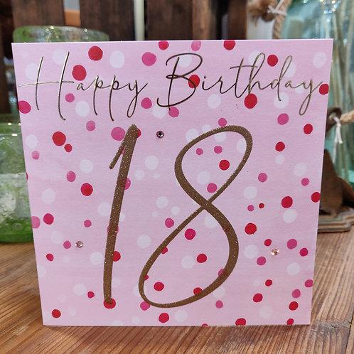 Janie Wilson Greeting Card Birthday Age 18