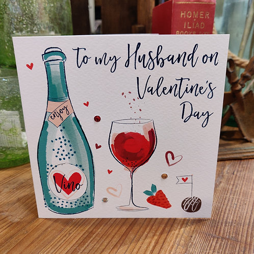Valentine's Day Greeting Card Katy Phythian Husband