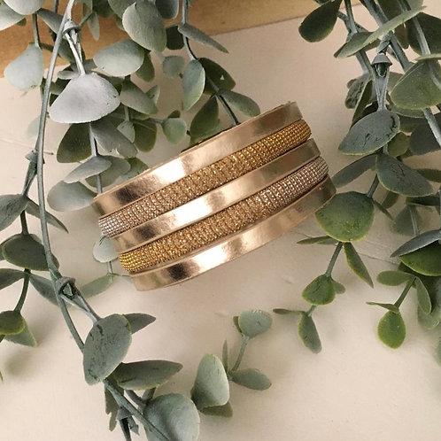Golden Wrap Bracelet