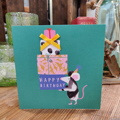 Birthday Card Stop The Clock Designs Happy Birthday Mouse