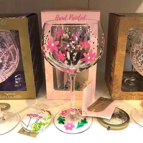 Wild Flower Gin Glass