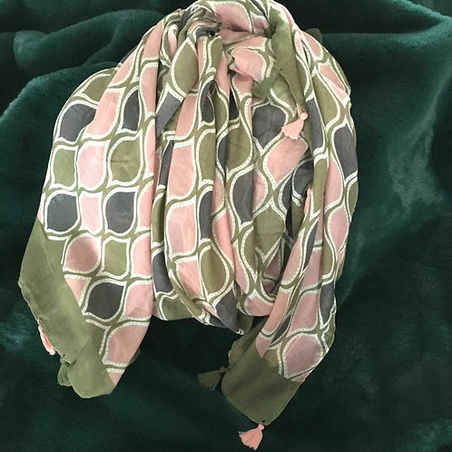 Moss Green Moroccan Scarf