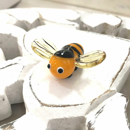 Glass Bumblebee Cute Tiny Ornament Gift