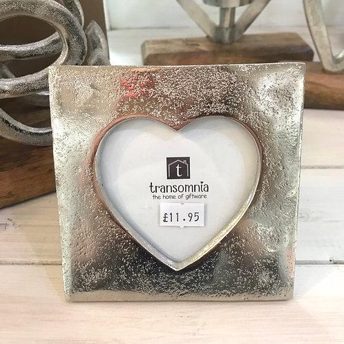 Aluminium Heart Frame Gift Photo Love Wedding Anniversary Shop Hinckley