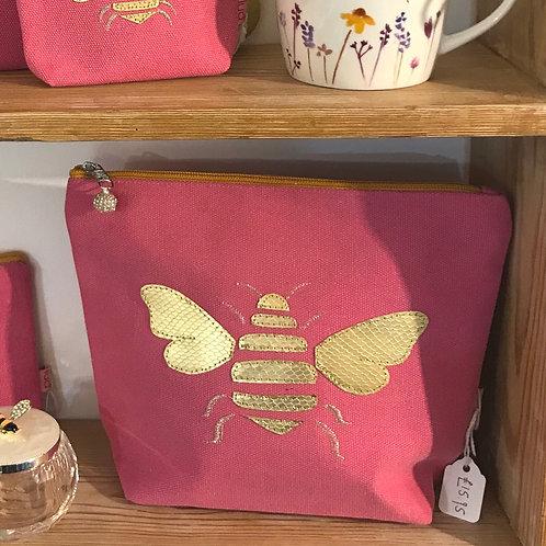 Large Bee Cosmetic Bag