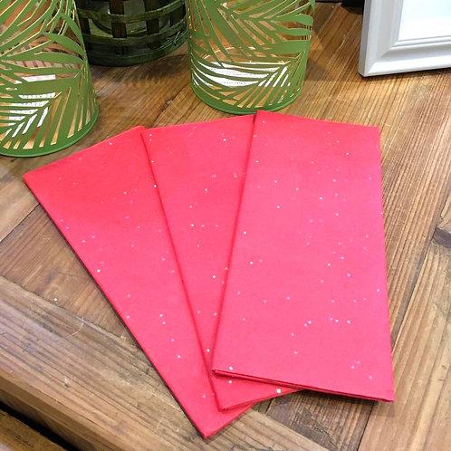 Red Glitter Tissue Paper