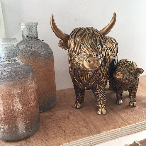 Large Highland Cow with Calf