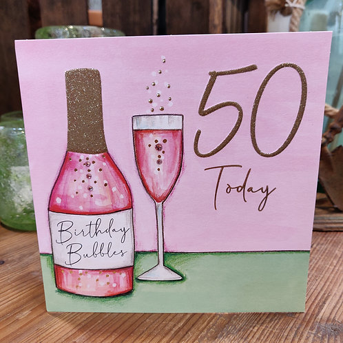 Janie Wilson Greeting Card Birthday Age 50