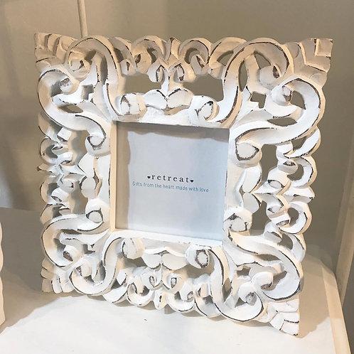Wood Carved Square Frame