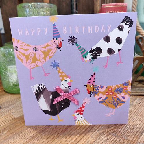 Birthday Card Stop The Clock Designs Happy Birthday Chickens