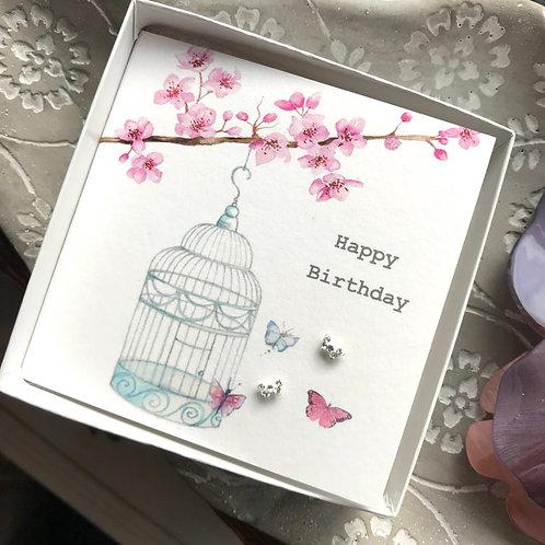 Birthday Butterfly Earrings