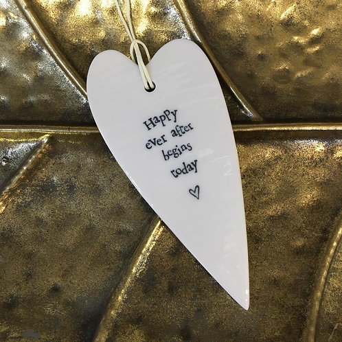 Happy Ever After Hanging Heart