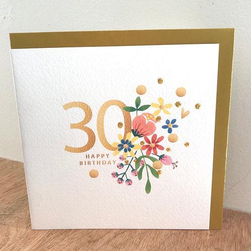 30 Happy Birthday Card