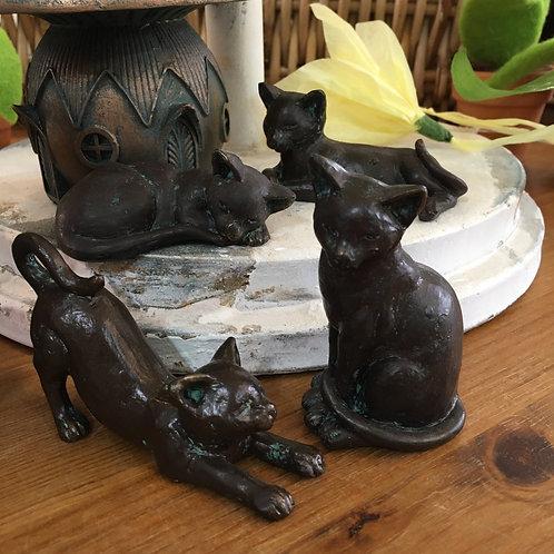 Set of 4 Cute Cats Gift Shop Hinckley Cat Lover