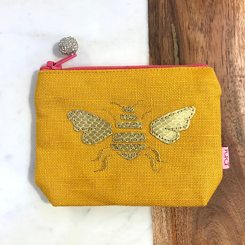 Yellow Bee Coin Purse