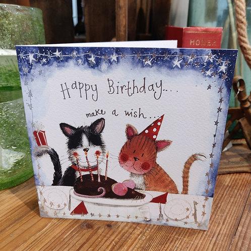 Happy Birthday Greeting Card Alex Clark Cats
