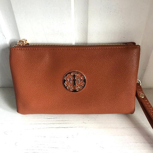 Tan Clutch Bag Front View