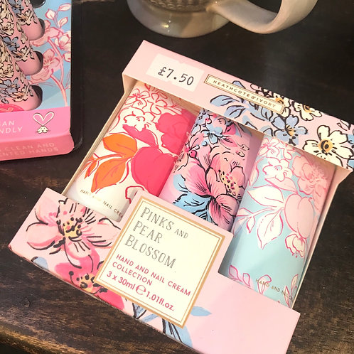 Pinks and Pear Blossom Hand Cream Collection