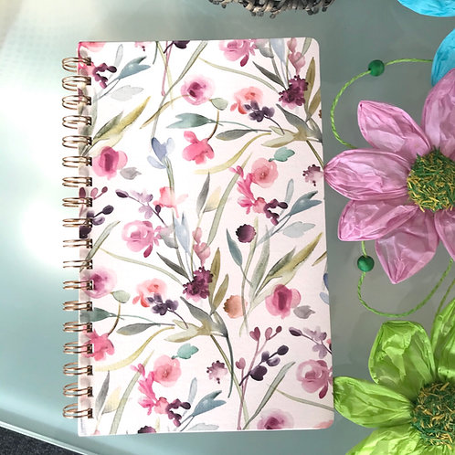 Floral Spiral Bound Notebook Stationery Gift Shop Hinckley