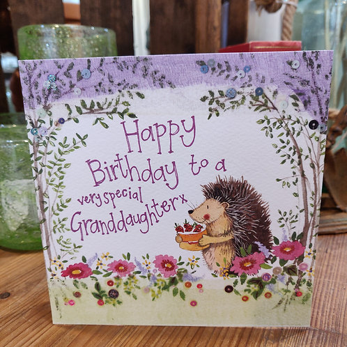 Relations Birthday Greeting Card Alex Clark Granddaughter
