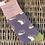 Miss Sparrow Ladies Bamboo Socks Gift Purple Hedgehogs