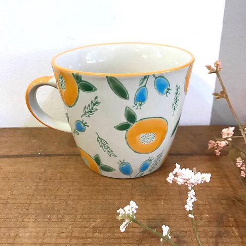 Orange Berry Ceramic Mug